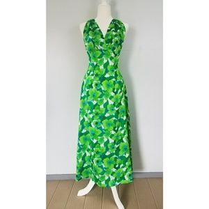 Vintage 70s Hawaiian Floral Halter Dress
